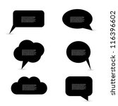 black speech bubbles | Shutterstock .eps vector #116396602