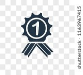 reward vector icon isolated on... | Shutterstock .eps vector #1163967415