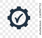 settings vector icon isolated... | Shutterstock .eps vector #1163967712