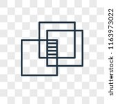 overlap vector icon isolated on ...   Shutterstock .eps vector #1163973022