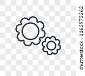 settings vector icon isolated... | Shutterstock .eps vector #1163973262