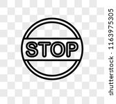 stop vector icon isolated on...   Shutterstock .eps vector #1163975305