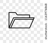 file vector icon isolated on... | Shutterstock .eps vector #1163976868