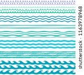 waves decorative design... | Shutterstock .eps vector #1163978968