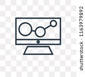 stats vector icon isolated on... | Shutterstock .eps vector #1163979892