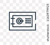 safe deposit vector icon... | Shutterstock .eps vector #1163979925