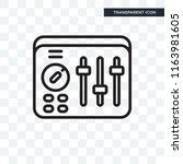 sound mixer vector icon... | Shutterstock .eps vector #1163981605