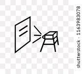 classroom projector vector icon ... | Shutterstock .eps vector #1163983078