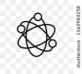 atomic structure vector icon... | Shutterstock .eps vector #1163983258