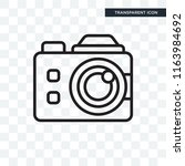 photograph vector icon isolated ... | Shutterstock .eps vector #1163984692