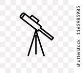 classroom telescope vector icon ... | Shutterstock .eps vector #1163985985