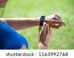 modern sport gadget concept  ... | Shutterstock . vector #1163992768