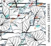 tropical  stripe  animal motif. ... | Shutterstock .eps vector #1163993845