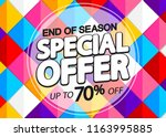 special offer  sale poster... | Shutterstock .eps vector #1163995885