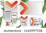 arrow abstract background... | Shutterstock .eps vector #1163997538