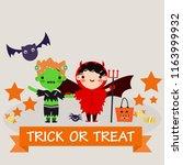 happy halloween party... | Shutterstock .eps vector #1163999932