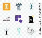 set of 9 transparent icons such ... | Shutterstock .eps vector #1164005752