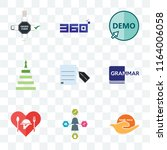 set of 9 transparent icons such ... | Shutterstock .eps vector #1164006058