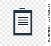 notepad vector icon isolated on ... | Shutterstock .eps vector #1164006355
