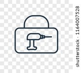 toolbox vector icon isolated on ... | Shutterstock .eps vector #1164007528