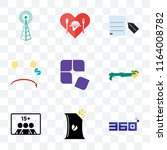 set of 9 transparent icons such ... | Shutterstock .eps vector #1164008782