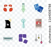 set of 9 transparent icons such ... | Shutterstock .eps vector #1164008788