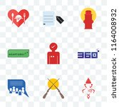 set of 9 transparent icons such ... | Shutterstock .eps vector #1164008932