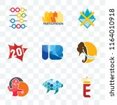 set of 9 transparent icons such ... | Shutterstock .eps vector #1164010918