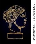 venus de milo head sculpture in ...   Shutterstock .eps vector #1164011272