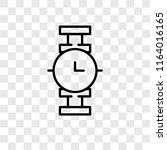 smartwatch vector icon isolated ... | Shutterstock .eps vector #1164016165