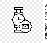 smartwatch vector icon isolated ... | Shutterstock .eps vector #1164016252