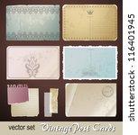 digital scrapbooking kit_ old... | Shutterstock .eps vector #116401945
