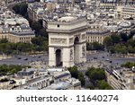 "view on the ""arc de triomphe"".... 