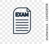 exam vector icon isolated on... | Shutterstock .eps vector #1164028558