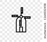 wind mill vector icon isolated... | Shutterstock .eps vector #1164032458