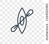 kayak vector icon isolated on...   Shutterstock .eps vector #1164032482