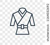 martial art vector icon... | Shutterstock .eps vector #1164032692