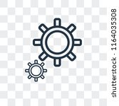 settings vector icon isolated... | Shutterstock .eps vector #1164035308