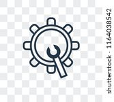 cogwheel vector icon isolated... | Shutterstock .eps vector #1164038542