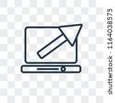 stats vector icon isolated on... | Shutterstock .eps vector #1164038575