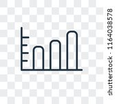 stats vector icon isolated on... | Shutterstock .eps vector #1164038578