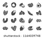 nuts  seeds and beans icon set. ... | Shutterstock .eps vector #1164039748