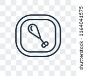 roast chicken vector icon... | Shutterstock .eps vector #1164041575