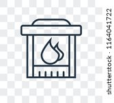 fireplace vector icon isolated... | Shutterstock .eps vector #1164041722