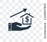 mortgage vector icon isolated... | Shutterstock .eps vector #1164047845