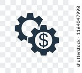 settings vector icon isolated... | Shutterstock .eps vector #1164047998