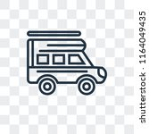caravan vector icon isolated on ... | Shutterstock .eps vector #1164049435