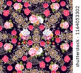 seamless pattern with indian... | Shutterstock .eps vector #1164053302