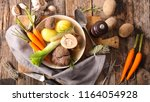 french pot au feu | Shutterstock . vector #1164054928