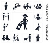 set of 13 simple editable icons ... | Shutterstock .eps vector #1164055408